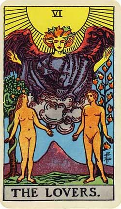 The Lovers Tarot cardjpg
