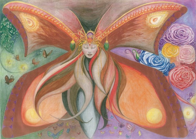 Transformation Butterfly Goddess by Melissa Jade Edwards