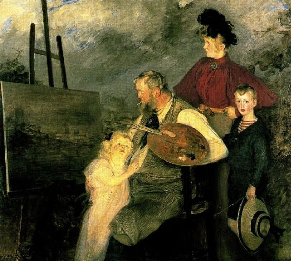 The+Painter+Thaulow+and+his+Children,+or+The+Thaulow+Family,+1895